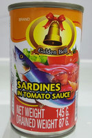 Golden Bell Canned Sardines and Mackerel in Tomato Sauce