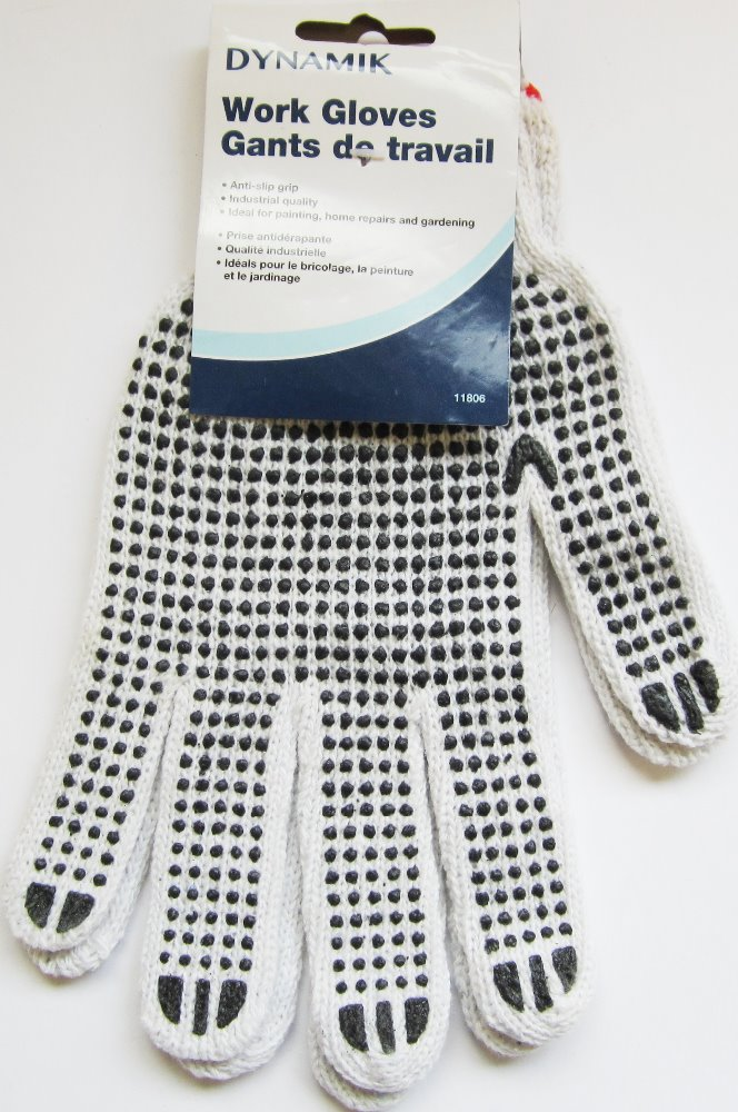 RUBBER GRIP COTTON WORK GLOVES