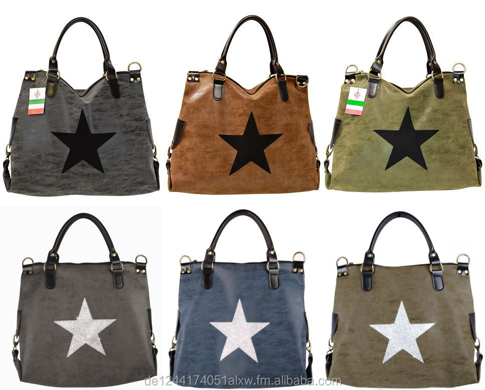 Ladies Star Handbag made in Italy Star Fashion Bag Bag made of high quality vegan leather