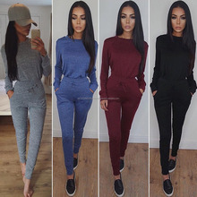 New Design Ladies Fleece Track Suit custom made cheap tracksuits