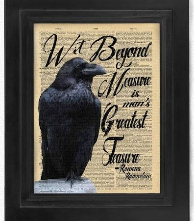 Buy3Get3-Wit on measure, Rowena Ravenclaw, quote, Harry Potter, Illustration, Art
