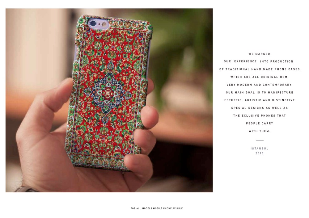 Hard Phone Case with Jacquard Woven Backing
