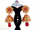 WHOLESALE SOUTH INDIAN GOLD PLATED BIG DUL EARRINGS-PEARL SMALL JHUMKA EARRING-WHOLESALE JHUMKA ONLINE