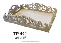 T401 Non-painted wooden MDF tray for hobby painting