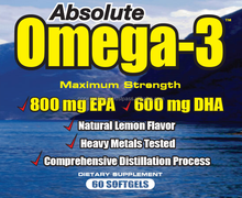 MOLECULARLY DISTILLED Softgel Capsules OMEGA 3 FISH OIL