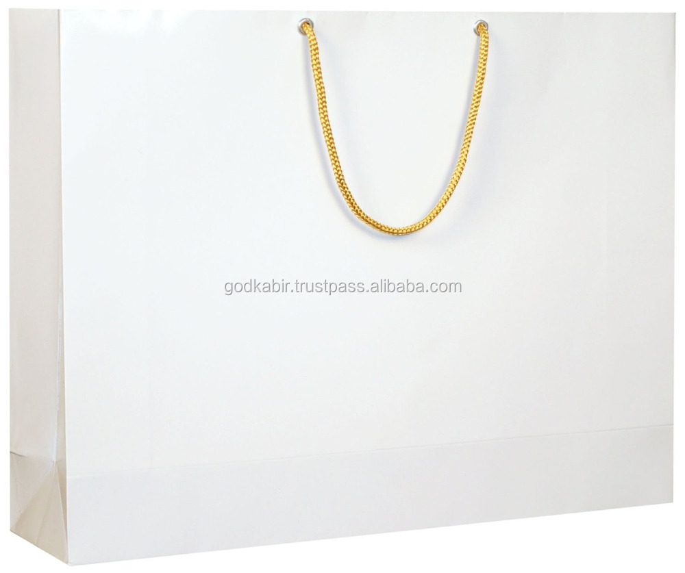 Beautiful And shining pure white colour antique Simple and stylist Arrow Paper Gift Bags, 40 cm x 35 cm./Best gift pack bags
