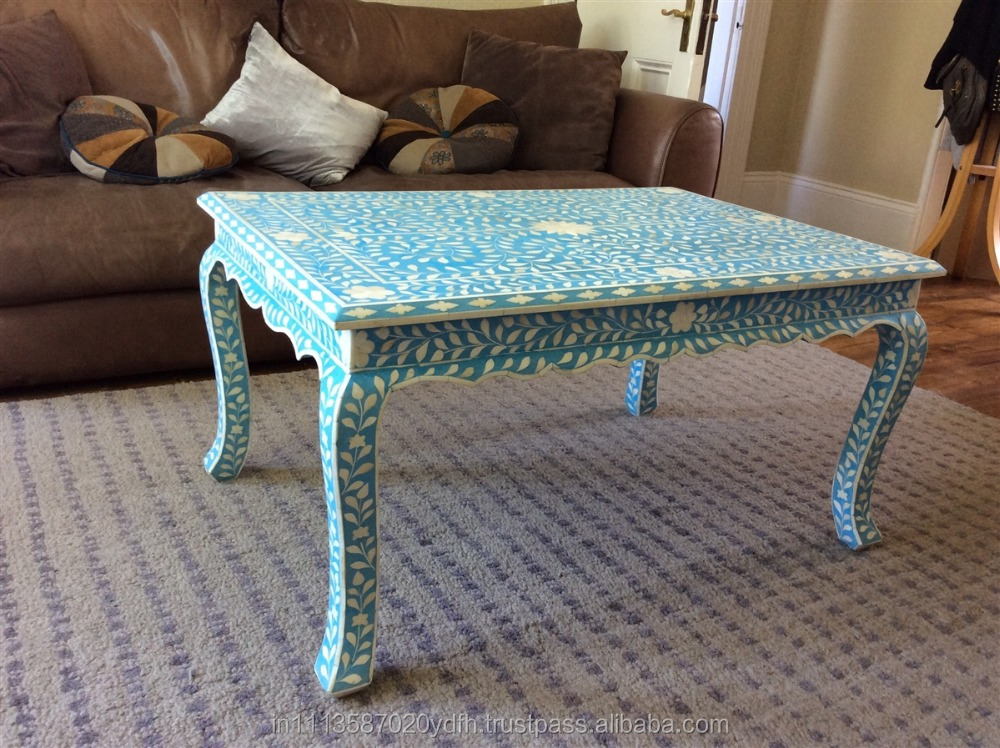 Blue and White Bone inlay center table