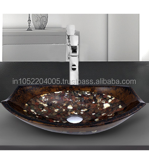 Mother Of Pearl Resin Wash Stone Bowl Sink