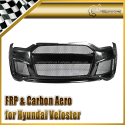 FRP Fiber Glass / Carbon Fiber For Hyundai Veloster Loadpowr Style Front Bumper