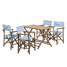 BAMBOO FOLDING TABLE AND CHAIR SET OF 4PCS (1 TABLE+ 4 CHAIRS)