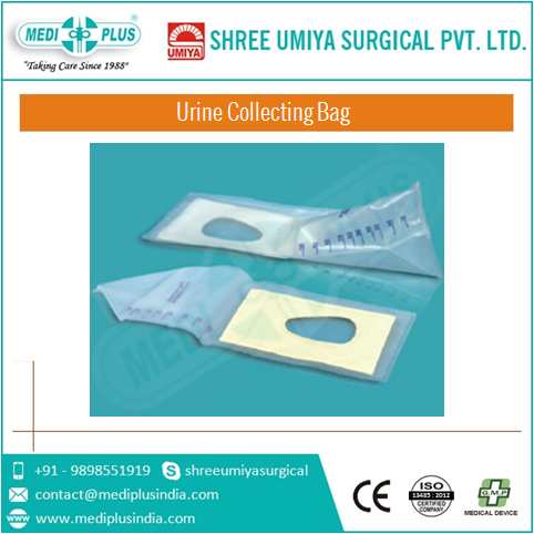 Disposable pediatric urine collection bag