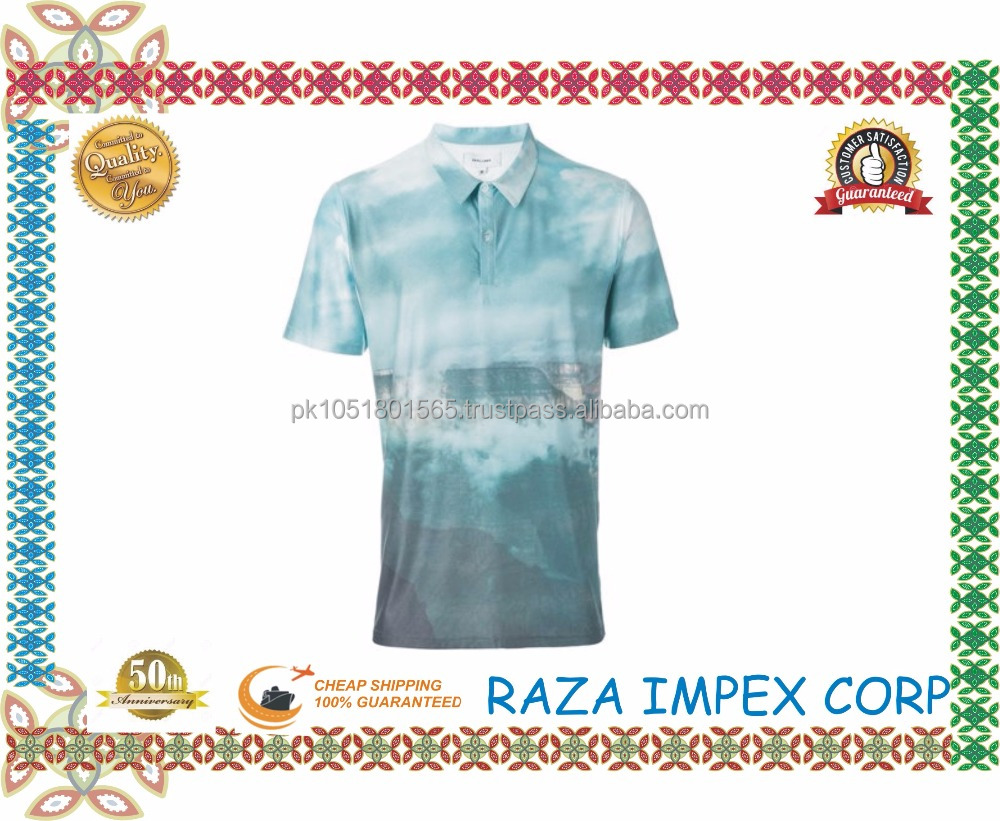 All Over Digitel Printing wholesale clothing linen custom sportwear fashion Diamond polo t-shirt online shopping