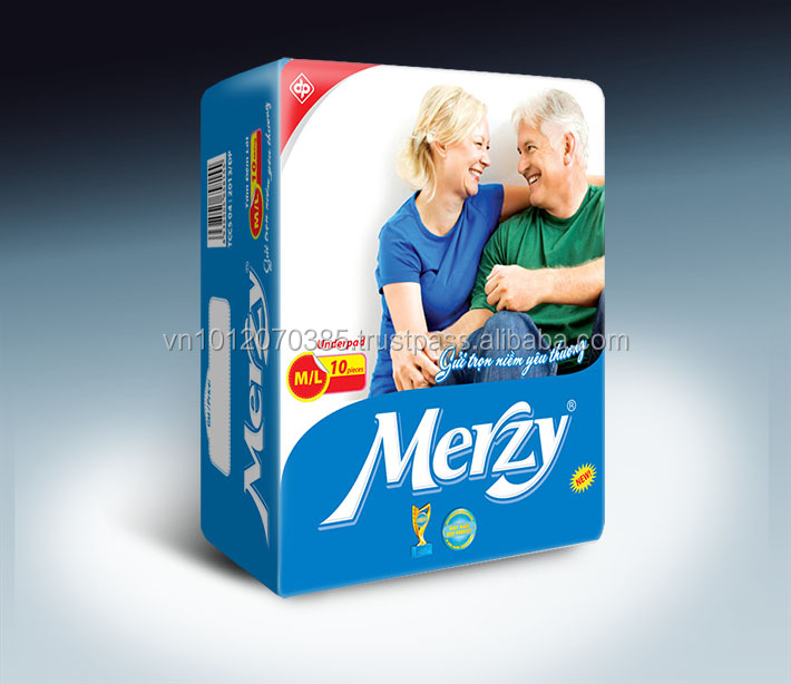 Good-Price Vietnam Merzy Underpad Diapers for Old People