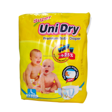 SUPER UNIDRY BABY NAPPY MADE IN VIETNAM PULP USA SAP JAPAN FEATURED BACKSHHET MADE IN VIETNAM