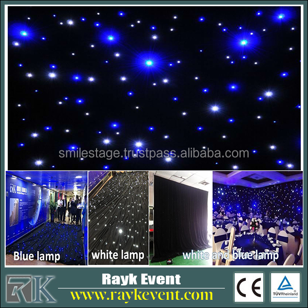 Easy to set up star curtain event decor supplies Pipe and Drape Kit