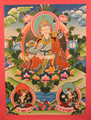 Padmasambhava Guru Thangka - High Quality buddhist Paintings - Made in Nepal