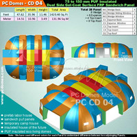 Eco-friendly FRP And PUF insulated Dome House and Roof