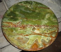 DECORATIVE ONYX TABLE TOPS