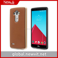 Newvit Style bumper w/ genuine leather for G4 / Combined TPU with genuine leather + Individual PC side bumper