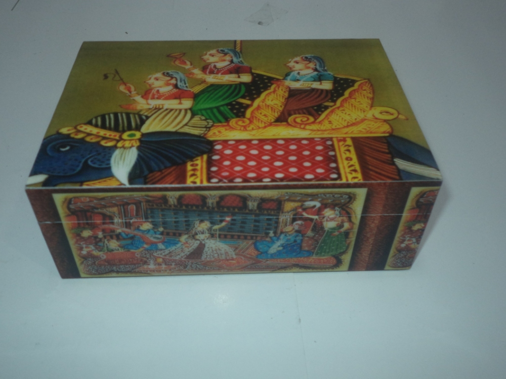 MUGAL ART DIGITAL PRINT WOODEN BOX