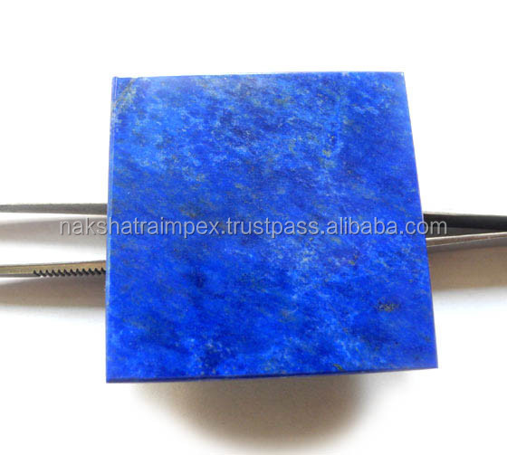 AAA Quality Natural Lapis Lazuli Flat Square Smooth Loose Gemstone