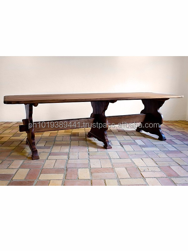 Country style gate leg dining table