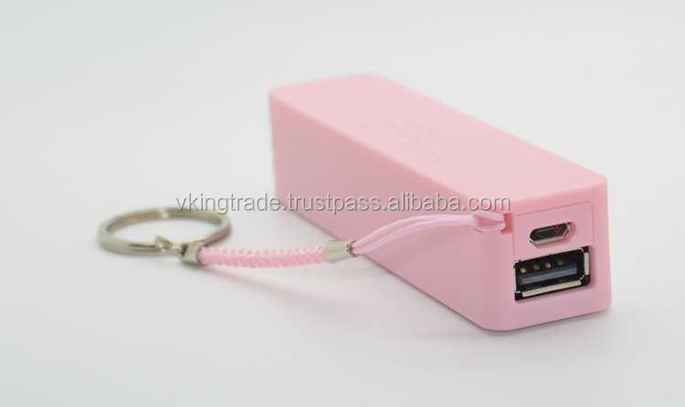 Vking Dual Port Perfume Charging Treasures Long Lifespan Power Bank 2600mah