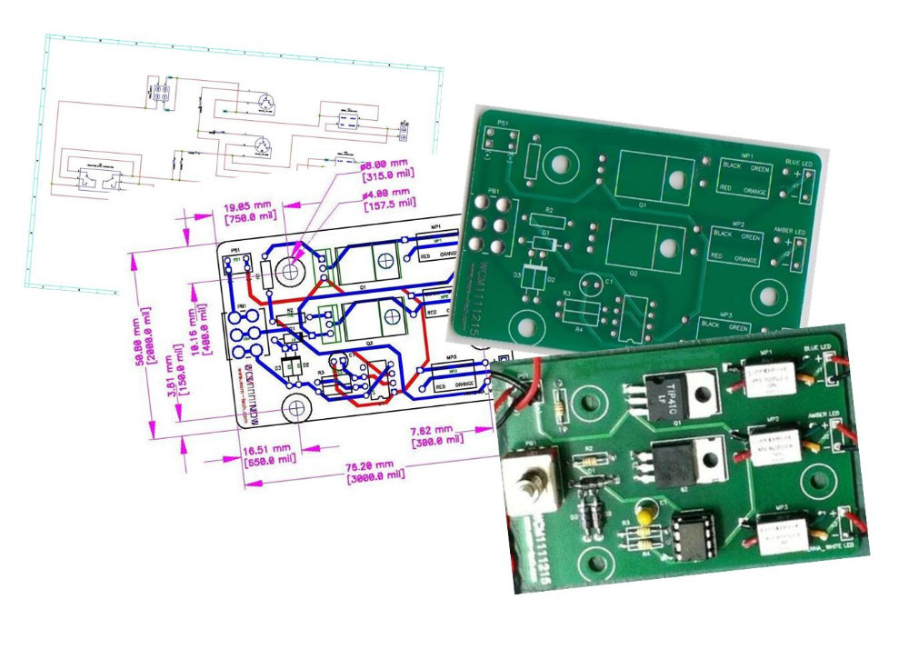 PCB Design Layout, Fabrication & Assembly Service