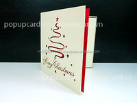 Candle Christmas 3d greeting card