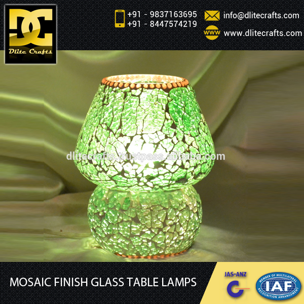 Eye Catching Mosaic Finish Designer Glass Table Lamp from Trusted Manufacturer