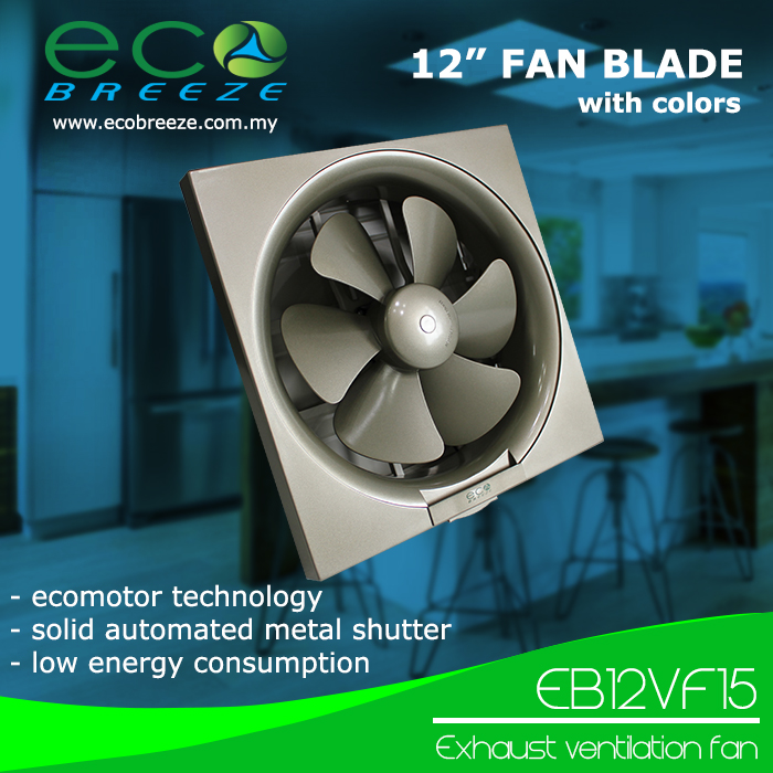 Exhaust Ventilation Fan EB-12VF15 Made in Malaysia