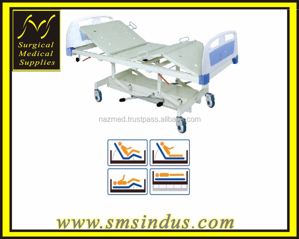 HI LO Hospital Bed 4 Section Double Fowler Positions Hydraulic Mechanism