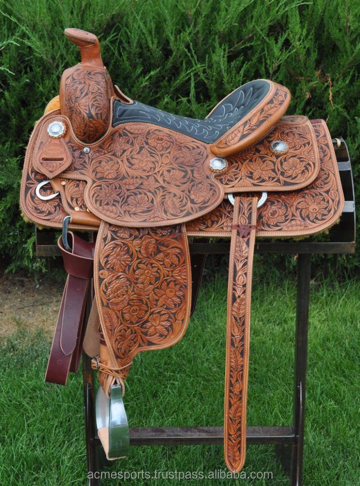 trail saddle - horse saddle with BAG OR MOTORCYCLE SADDLE BAGS