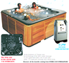 6 people whirlpool bathtub, hot tube spa, oxygen integrated Bathtubs & Whirlpools