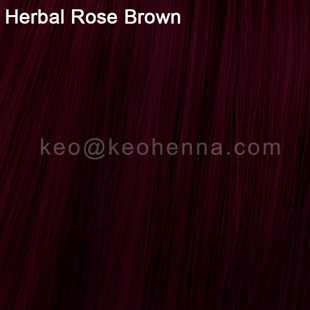 Herbal Rose Brown Henna, 100% Natural Hair Color