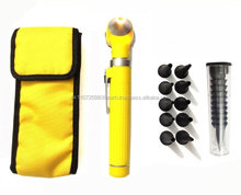 Mini OTOscope Fiber Optic plastic body Yellow Delta Med Surgical