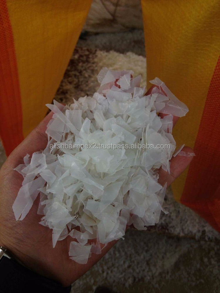 HDPE BOTTLES FLAKES , WASHED NATURAL COLOR
