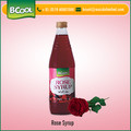 Rich Quality Delicious Rose Syrup Bottle for Cooling and Satisfying Drink