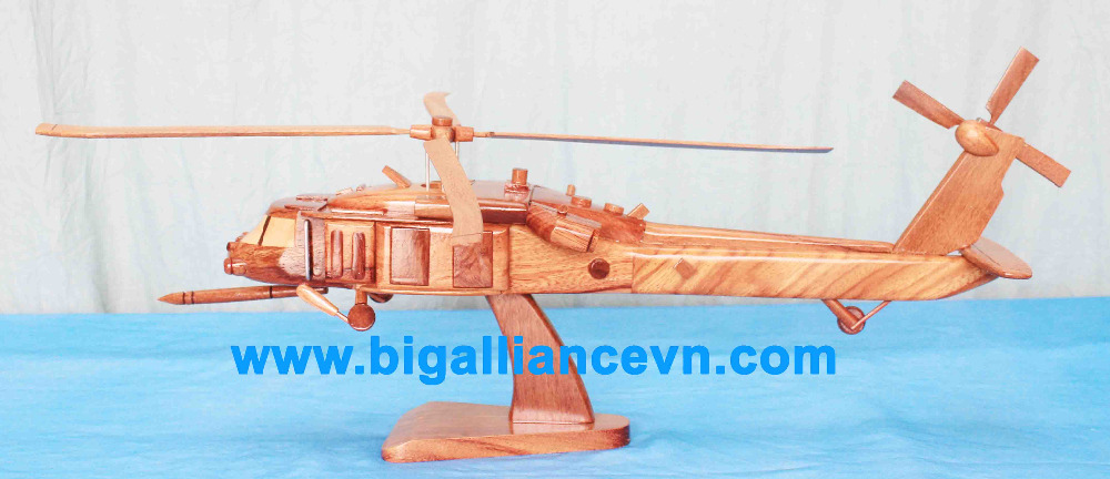 Wooden helicopter HH60 Pave Hawk