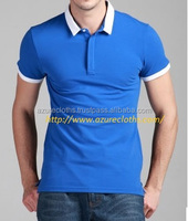 quality polo t-shirts sky blue / polo shirts for men 100% cotton