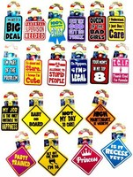 CAR WINDOW SIGNS( BG = 24 PCS) #026515