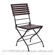 DURABLE iron and wood folding chair