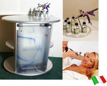 Skin oxygen therapy with BIO OXY SKIN 93% pure oxygen, 0,8 bar pressure, design & natural cosmetics: the facial oxygen jet