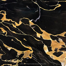 Interior wall stone decoration Turkey black and gold marble