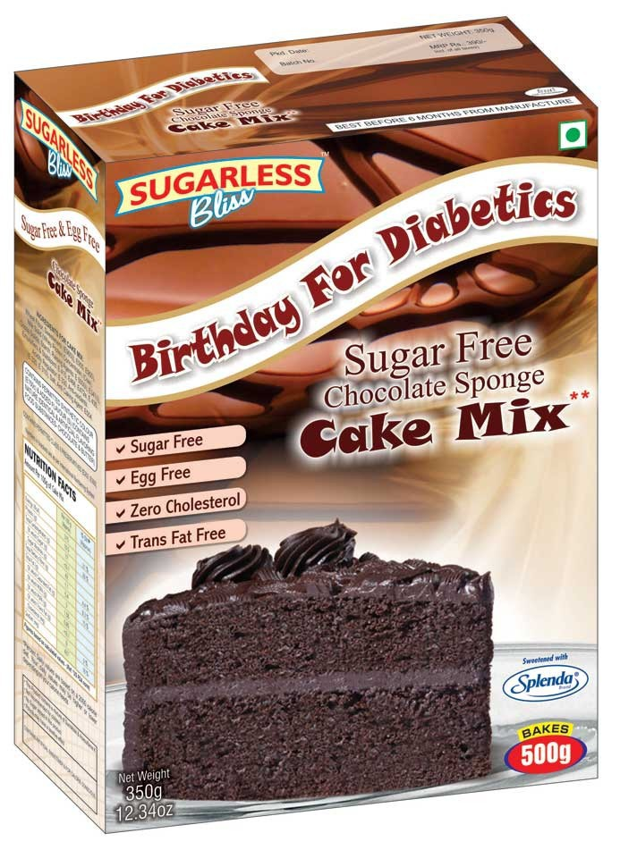 Sugar Free Chocolate Sponge Cake Mix