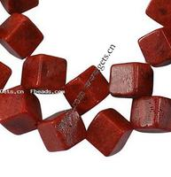 Natural Coral Beads Cube dyed red Grade A 8x8x8mm Hole:Approx 1mm 36PCs/Strand Sold Per 15.5 Inch Strand