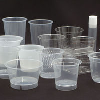 KISCO Infini series yogurt plastic cups with glass-like transparency