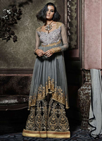 Plazzo Style Salwar Kameez Latest Fashion Womens Suits Dress
