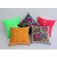 New Design 2016 Creative Colored Thai Design Embroidered Luxury Cushion Covers for bed room