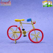 Miniature metal toy wire art bicycle model for home decor